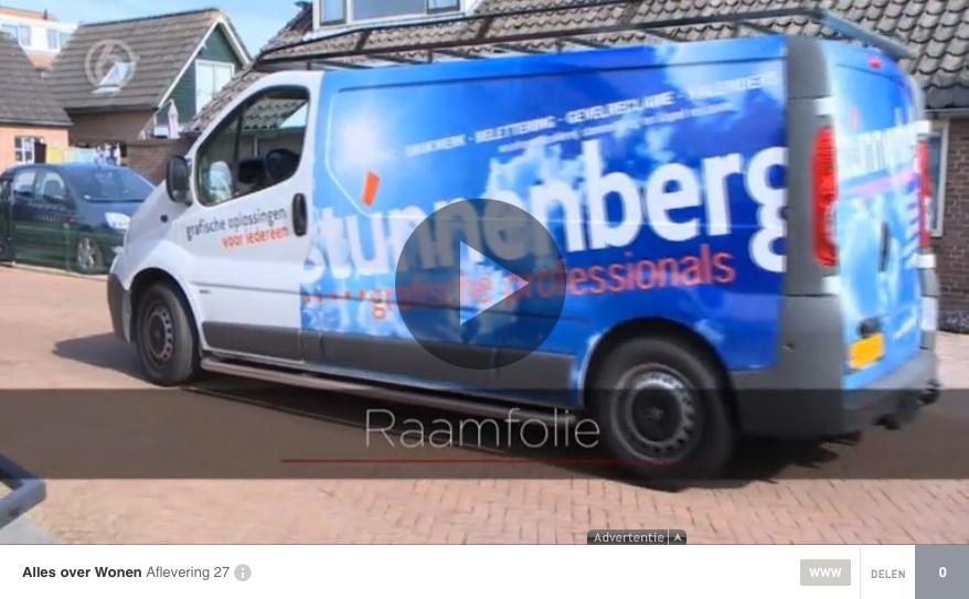 Raamfolie van Stunnenberg bij SBS6 - Alles over Wonen
